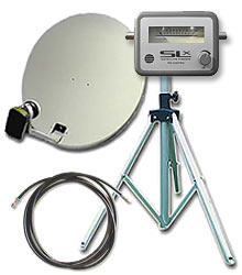 Outdoor Satellite Dish and Stand Kit